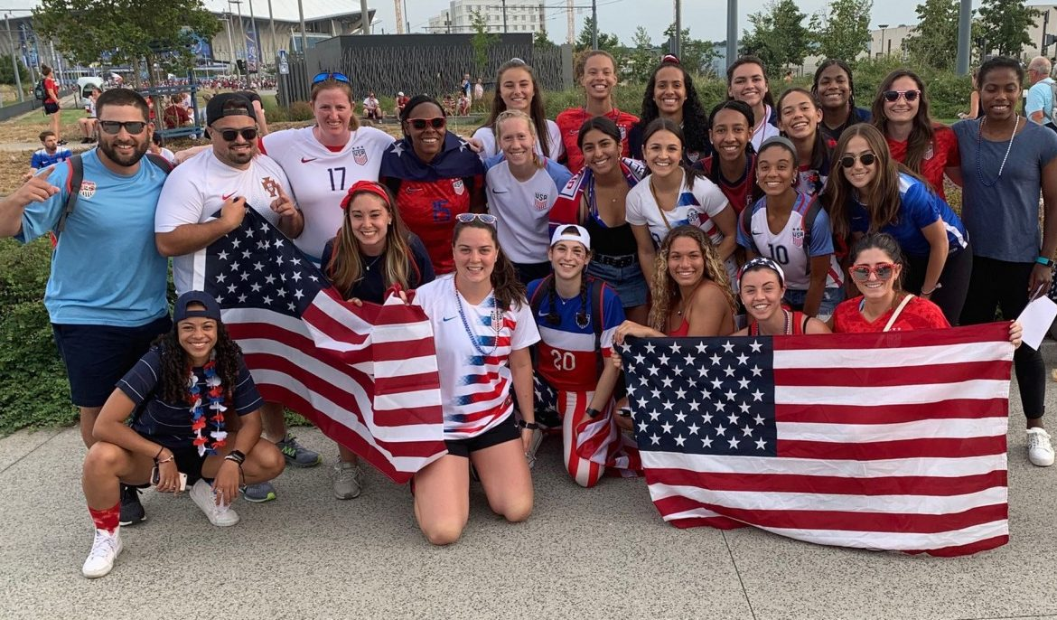 The U.S. women's soccer team just made history — and the Brown women's team watched firsthand